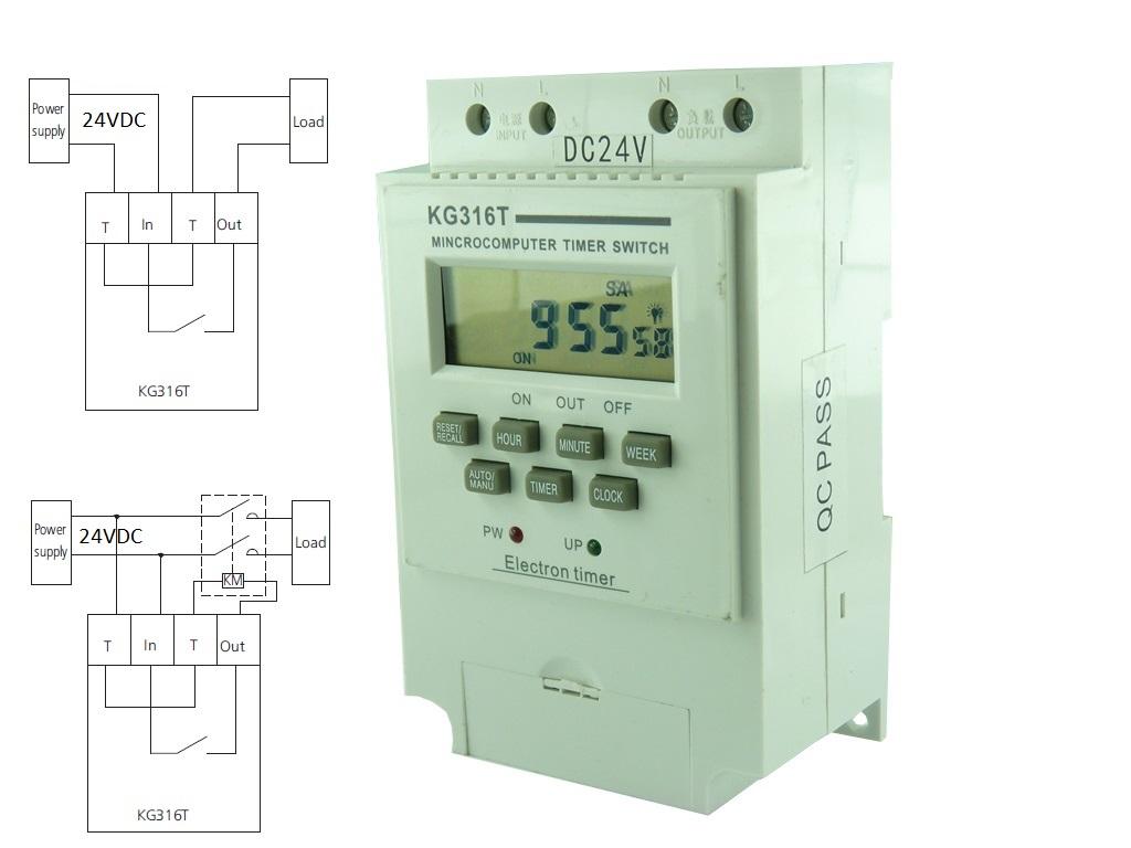 Контролер за време KG-316T-24V