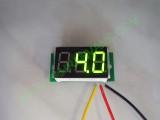 """0.36"""" Зелен 0-100V DC LED сегментен волтметър без панел с 3 проводника"""