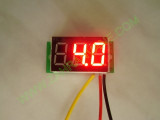 """0.36"""" Червен 0-100V DC LED сегментен волтметър без панел с 3 проводника"""