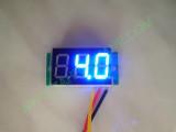 """0.36"""" Син 0-100V DC LED сегментен волтметър без панел с 3 проводника"""