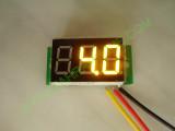 """0.36"""" Жълт 0-100V DC LED сегментен волтметър без панел с 3 проводника"""
