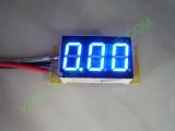 """0.36"""" Син  0-200V DC LED сегментен волтметър без панел с 3 проводника"""