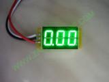 """0.36"""" Зелен  0-200V DC LED сегментен волтметър без панел с 3 проводника"""