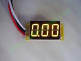 """0.36"""" Жълт  0-200V DC LED сегментен волтметър без панел с 3 проводника"""