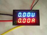 """VA метър 2x0.28""""/ син-червен 5 проводника 0-200VDC/20A"""