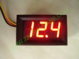 """0.56"""" Червен 0-200V DC LED сегментен волтметър с панел с 3 проводника"""