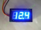 """0.56"""" Син 0-200V DC LED сегментен волтметър с панел с 3 проводника"""