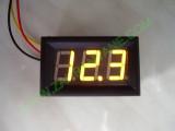 """0.56"""" Жълт 0-200V DC LED сегментен волтметър с панел с 3 проводника"""