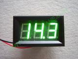 """0.56"""" Зелен 7-150V DC LED сегментен волтметър с калибровка, с панел, с 2 проводника"""