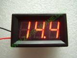 """0.56"""" Червен 7-150V DC LED сегментен волтметър с панел с 2 проводника"""