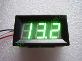 """0.56"""" Зелен 0-200V DC LED сегментен волтметър с панел с 3 проводника"""