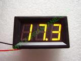 """0.56"""" Жълт 7-150V DC LED сегментен волтметър с панел с 2 проводника"""