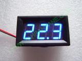 """0.56"""" Син 7-150V DC LED сегментен волтметър с калибровка, с панел, с 2 проводника"""