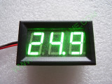 """0.56"""" Зелен 0-100V DC LED сегментен волтметър с панел с 3 проводника"""