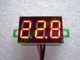 """0.36"""" Червен 0-32V DC LED сегментен волтметър без панел с 3 проводника"""