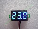 """0.36"""" Син 0-32V DC LED сегментен волтметър без панел с 3 проводника"""