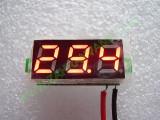 """0.28"""" Червен 2.5-30V DC LED сегментен волтметър без панел с 2 проводника"""