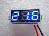 """0.28"""" Син 3.2-30V DC LED сегментен волтметър без панел с 2 проводника"""
