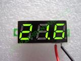 """0.28"""" Зелен 2.6-30V DC LED сегментен волтметър без панел с 2 проводника"""