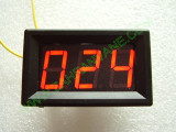 """0.56"""" Червен 12-275V AC LED сегментен волтметър с панел с 2 проводника"""