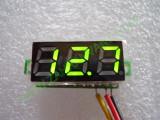 """0.28"""" Зелен 0-100V DC LED сегментен волтметър без панел с 3 проводника"""