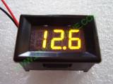 """0.36"""" Жълт 7-150V DC LED сегментен волтметър с панел с 2 проводника"""
