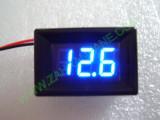 """0.36"""" Син 7-150V DC LED сегментен волтметър с панел с 2 проводника"""