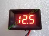 """0.36"""" Червен 7-150V DC LED сегментен волтметър с панел с 2 проводника"""