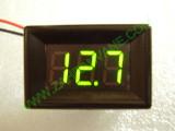 """0.36"""" Зелен 7-150V DC LED сегментен волтметър с панел с 2 проводника"""