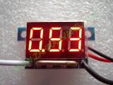 """0.36"""" Червен 0-9.99А DC LED 3 сегментен амперметър с 4 проводника"""