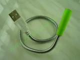 USB LED лампа с гъвкаво рамо зелена