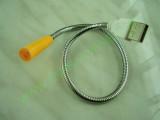 USB LED лампа с гъвкаво рамо оранжева