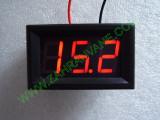 """0.56"""" Червен 7-150V DC LED сегментен волтметър с калибровка, с панел, с 2 проводника"""