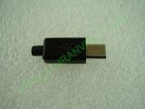Сглобяема - права micro USB  iphone style мъжка букса 8.5мм черна