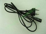 Захранващ кабел 2 пина 1.35м с конектор IEC-C7