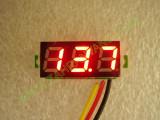 """0.28"""" червен 0-100V DC LED сегментен волтметър без панел с 3 проводника"""