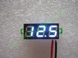 """0.28"""" Бял 2.6-30V DC LED сегментен волтметър без панел с 2 проводника"""