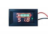 Волтметър и бар индикатор за заряд-разряд на оловен акумулатор 48V