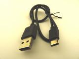 Кабел USB-A към USB-C, 36см, 0.12oHm, черен